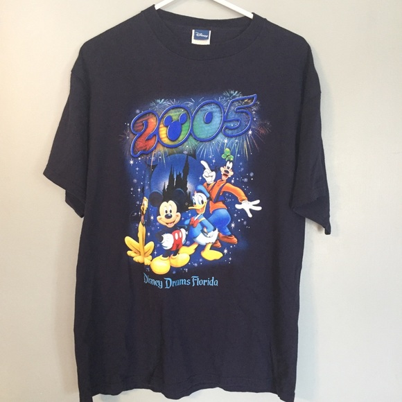 Minnie Mouse Florida Disney Mickey Mouse Donald Duck and Pluto blue tank top